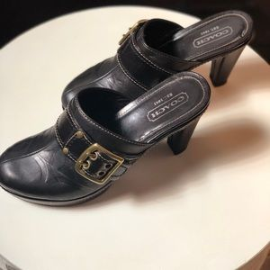 Coach Mules / Clogs Black Size 7.5